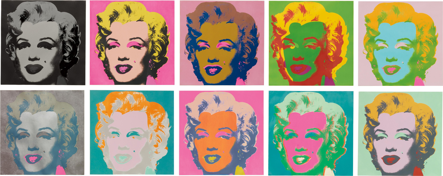"Andy Warhol, ""Marilyn Monroe"", screen print on paper"
