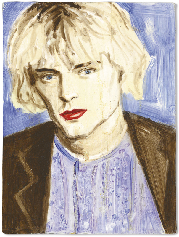 "Elizabeth Peyton, ""Curt Cobain"", oil on canvas"