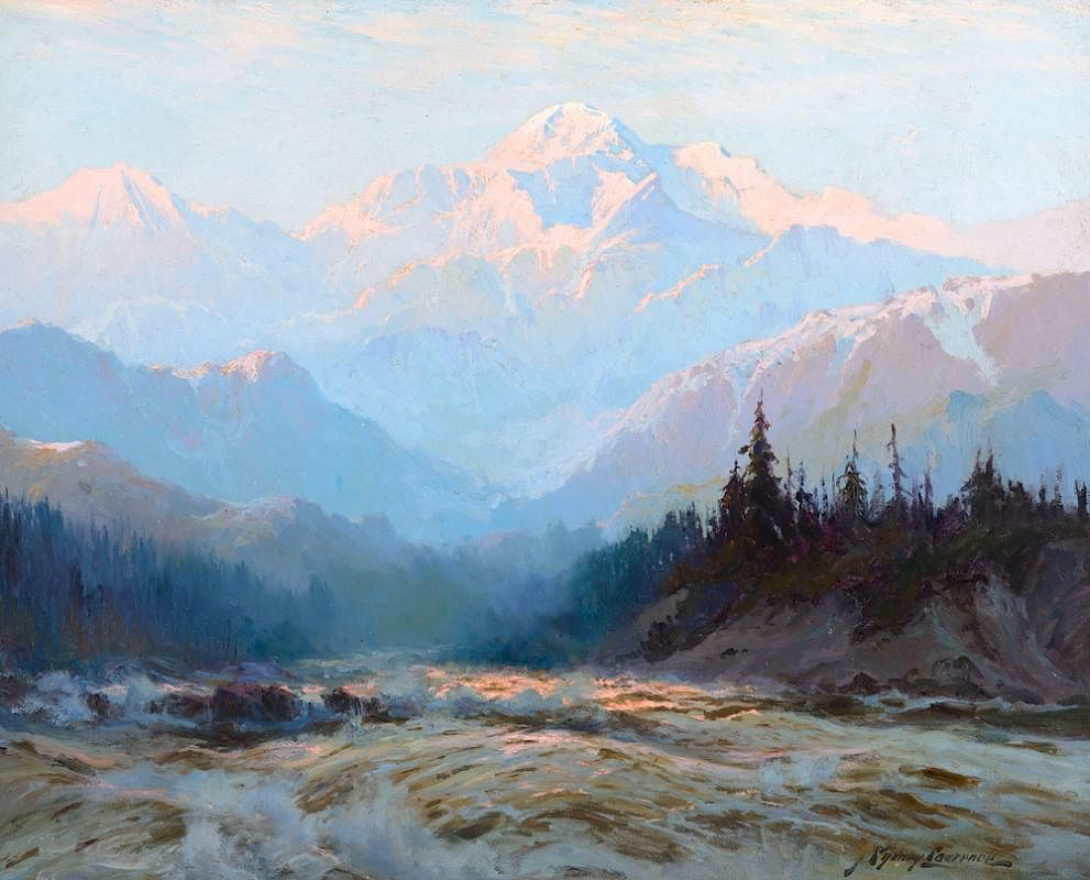 "Sidney Lawrence, ""Mt. McKinley"", oil"