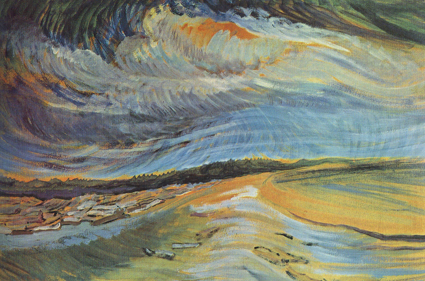 "Emily Carr, ""Untitled"", oil on paper"