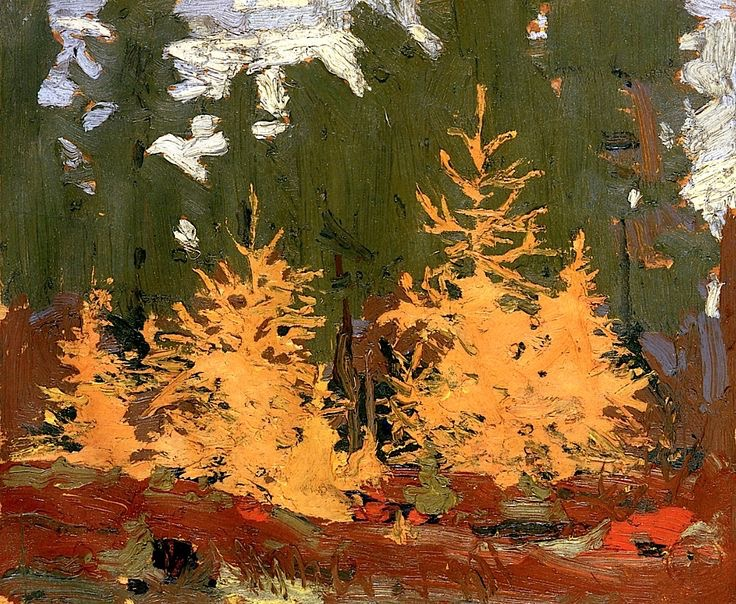 "Tom Thomson, ""Yellow Pines"", oil on panel"