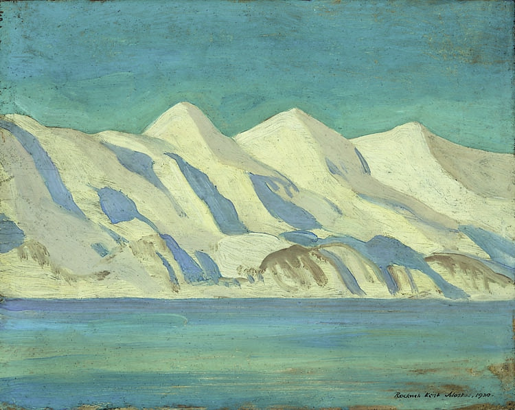 "Rockwell Kent, ""Alaska Impression"", oil on panel"