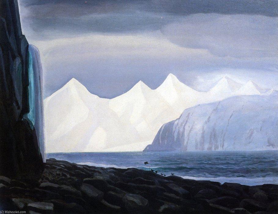 "Rockwell Kent, ""Bear Glaciar, Alaska"", oil"