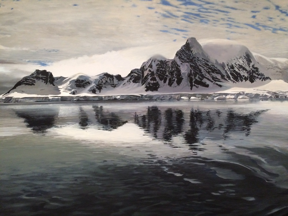 "Richard Estes, ""Antartica"" (detail), oil"