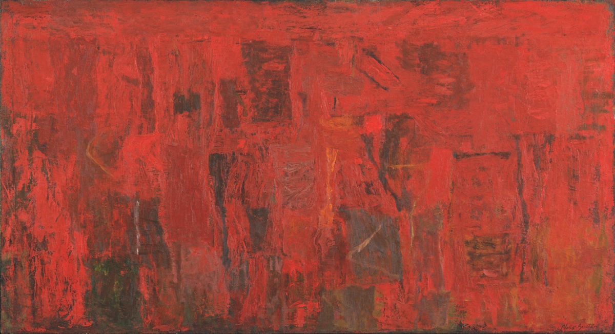 """Philip Guston, """"Red Painting"""", oil"""
