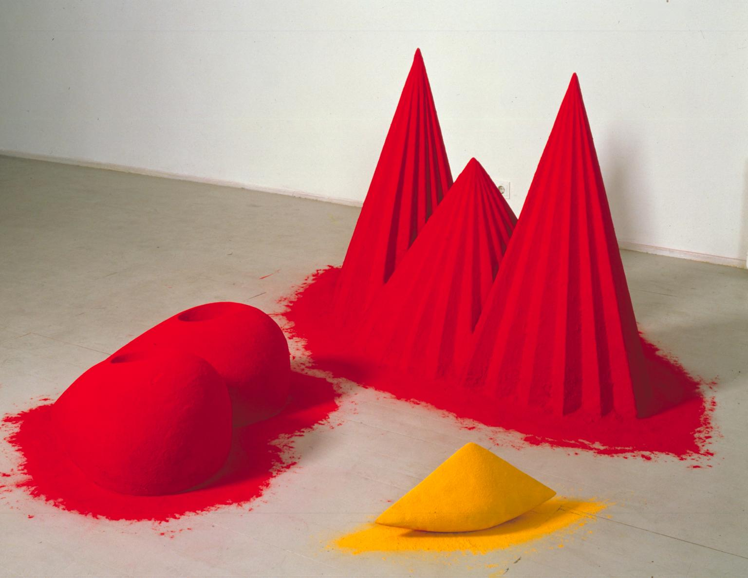 "Anish Kapoor, ""As if to Celebrate, I Discovered a Mountain Blooming with Red Flowers"", Pigment"