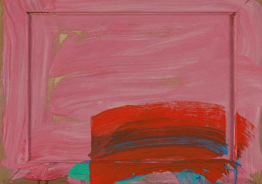 "Howard Hodgkin, ""In the Pink"", oil"