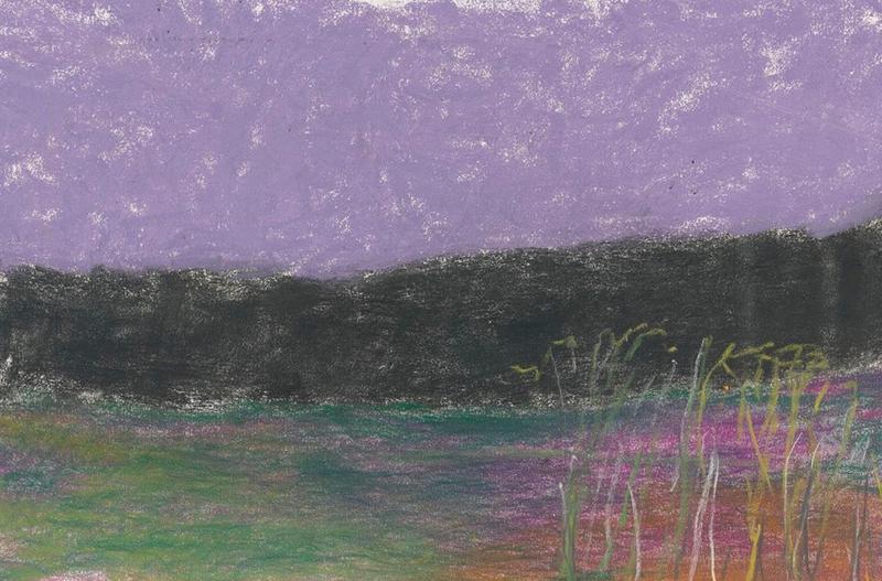 "Wolf Kahn, ""near the Edge of the Woods"", pastel"