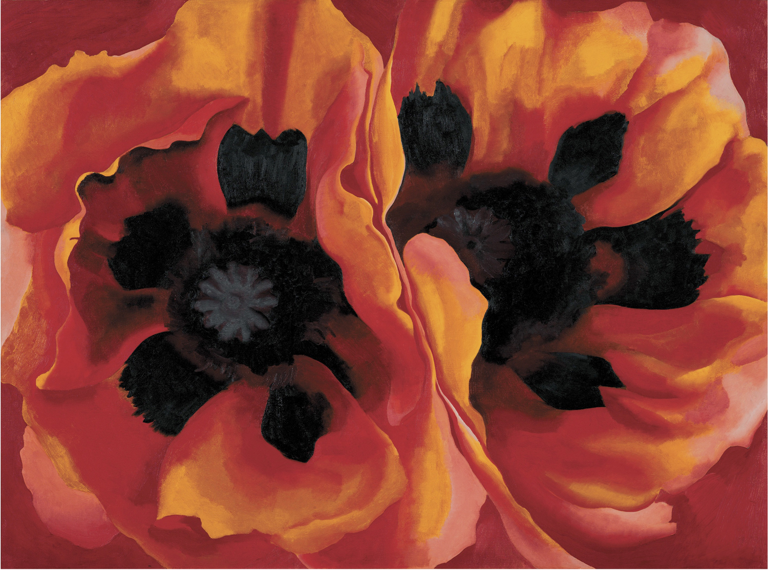"Georgia O'Keefe, ""Oriental Poppies"", oil on canvas"