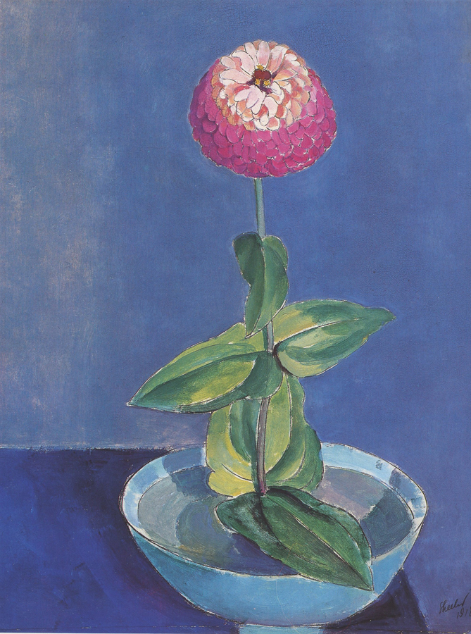 "Charles Sheeler, ""Flower in a Bowl"", oil on canvas"