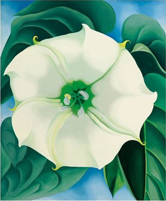 "Georgia O'Keefe, ""Jimson Weed, White Flower"", oil on canvas"
