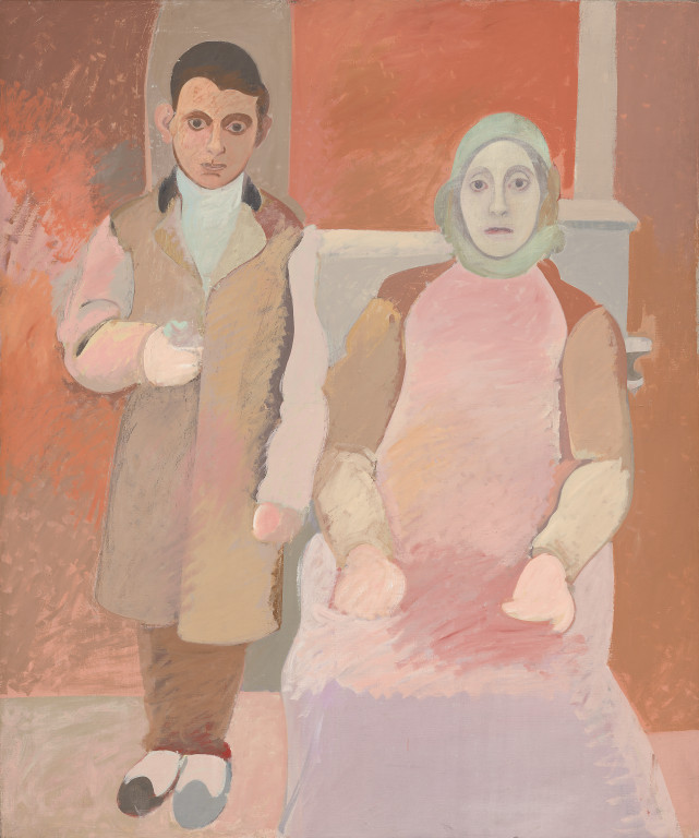 "Arshile Gorky, ""The Artist and his Mother, oil on canvas"