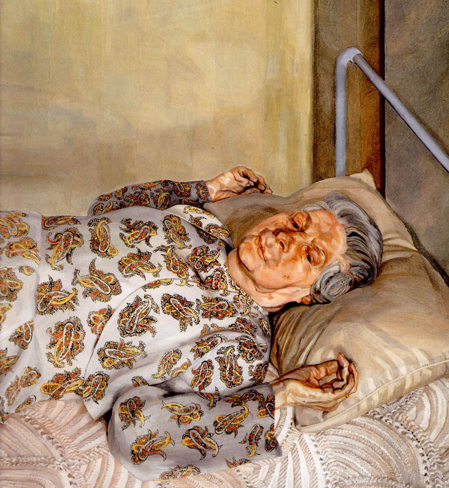 "Lucien Freud, ""The Artist's Mother Resting"", oil on canvas"