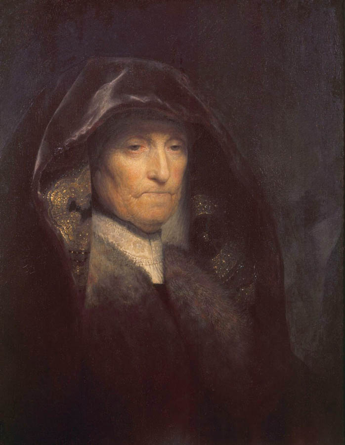 "Rembrandt Van Rijn, ""Portrait of the Artist's Mother"", oil on canvas"