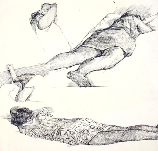 "Susan Abbott, ""Mother Sleeping"", pen"