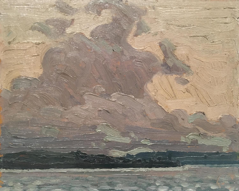 """Sky Sketch"", 8"" x 10"", oil on wood panel"