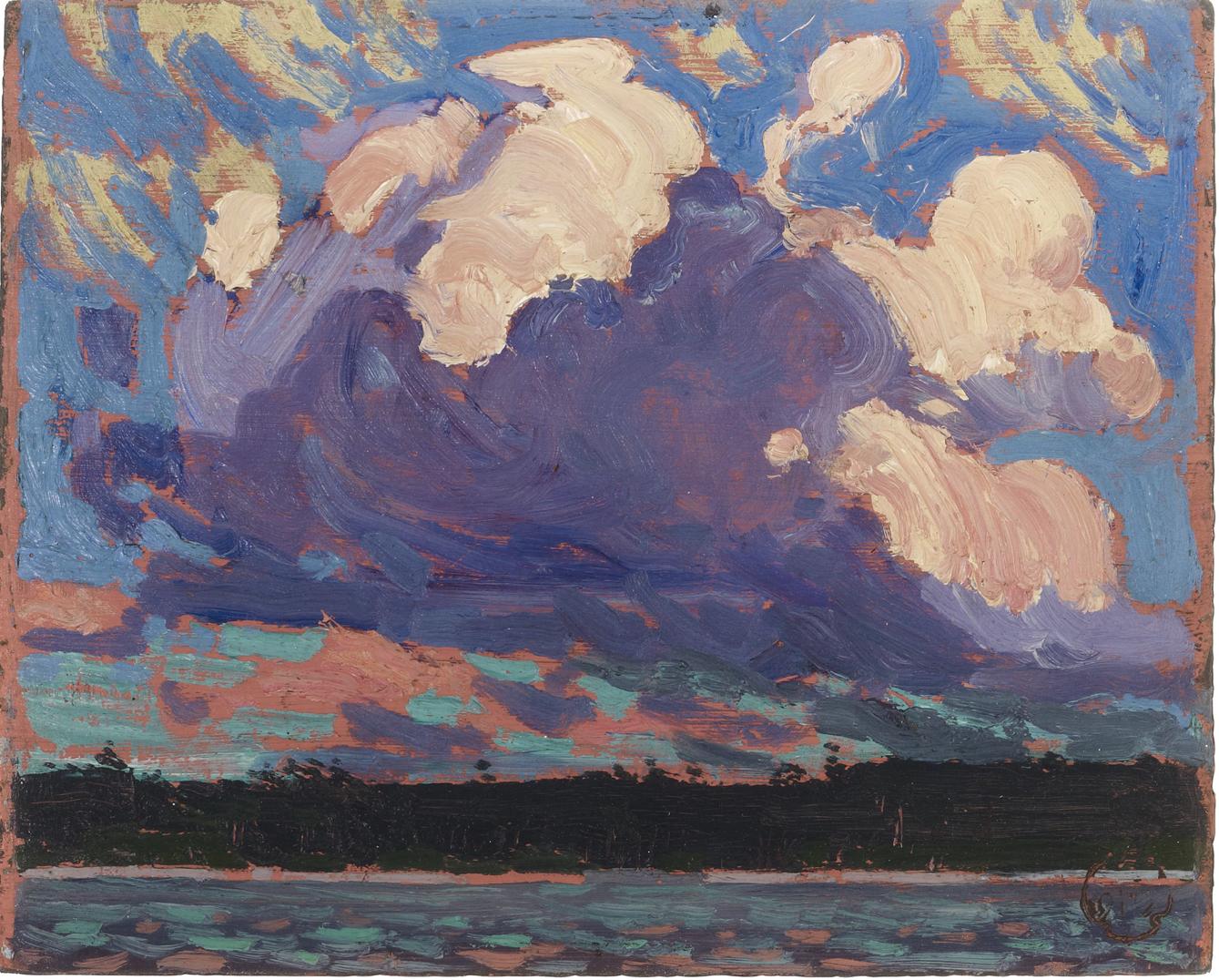 """Evening Cloud"", oil on panel, 8"" x 10"""