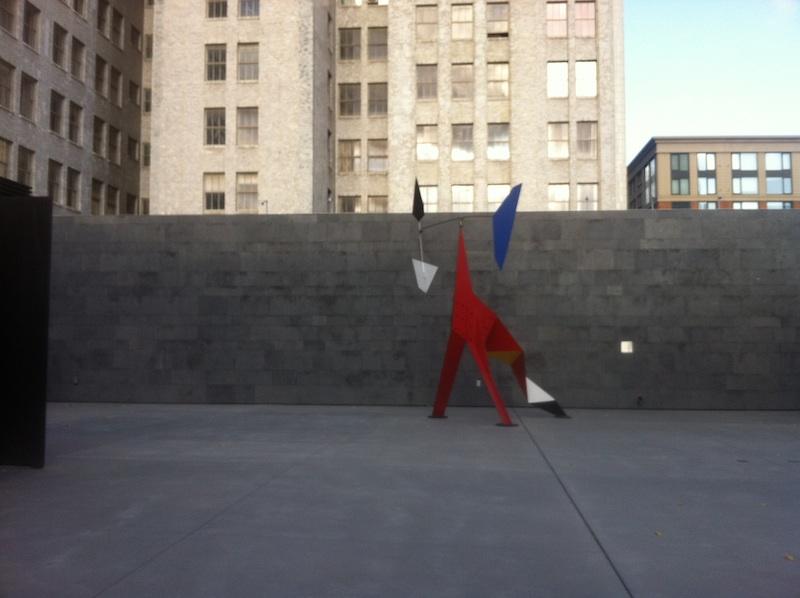Big Crinkly    by Alexander Calder   ,   S  F MOMA Rooftop Garden  Photo: Lynne Azpeitia