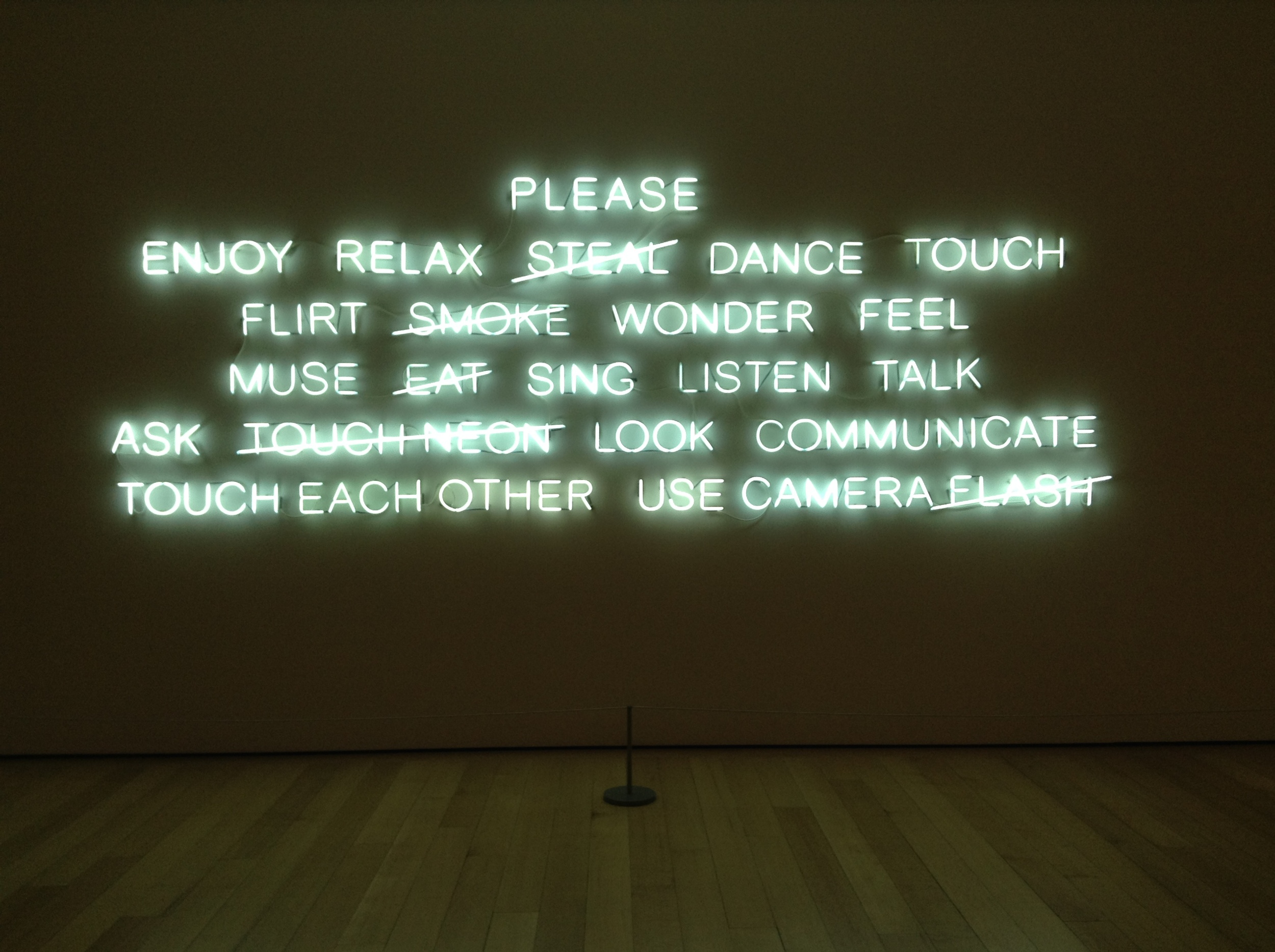 Please....2008  Jeppe Hein at Boston's Museum of Fine Art
