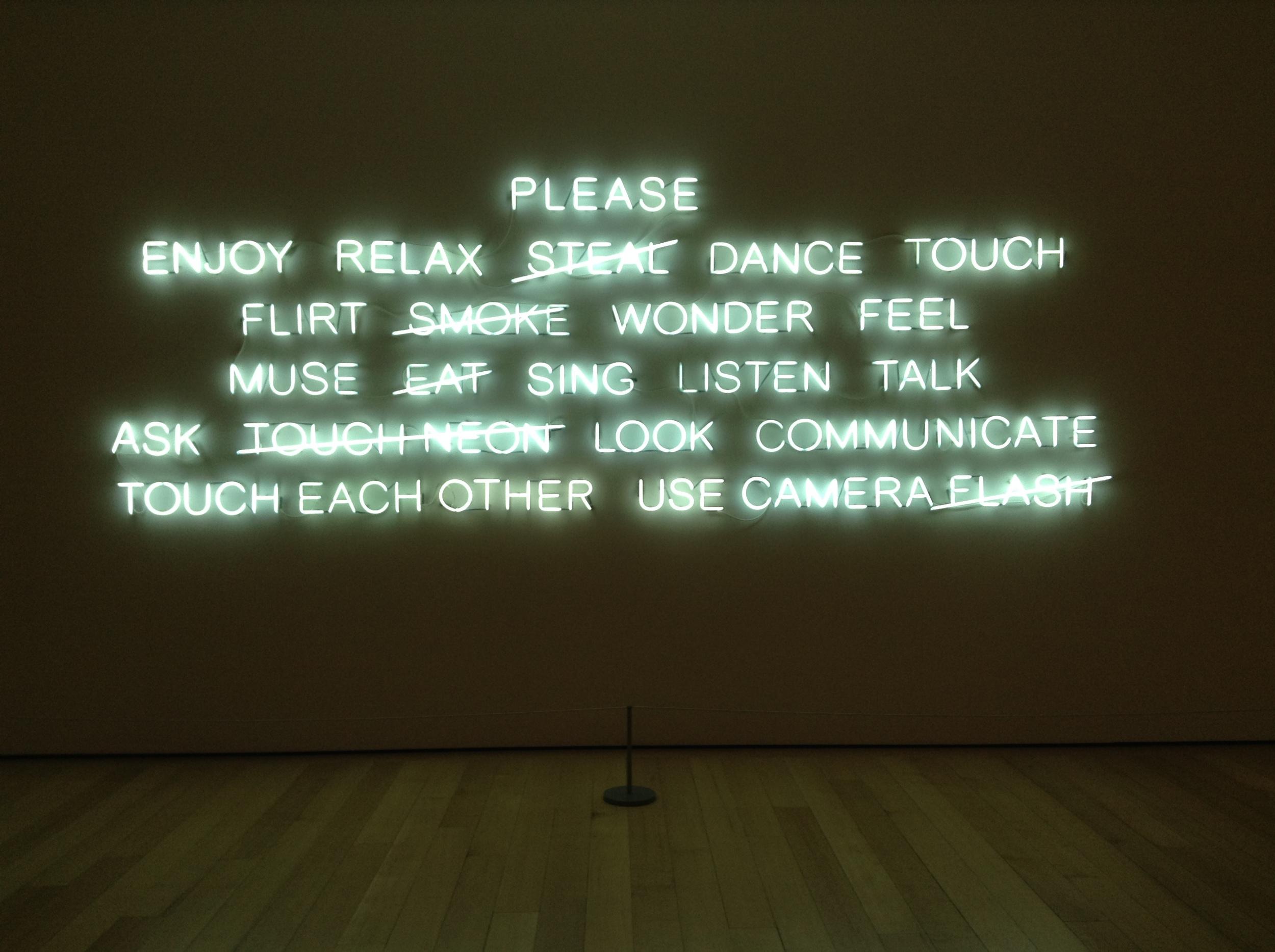 Please....2008 Jeppe Hein at Boston's Museum of Fine Art