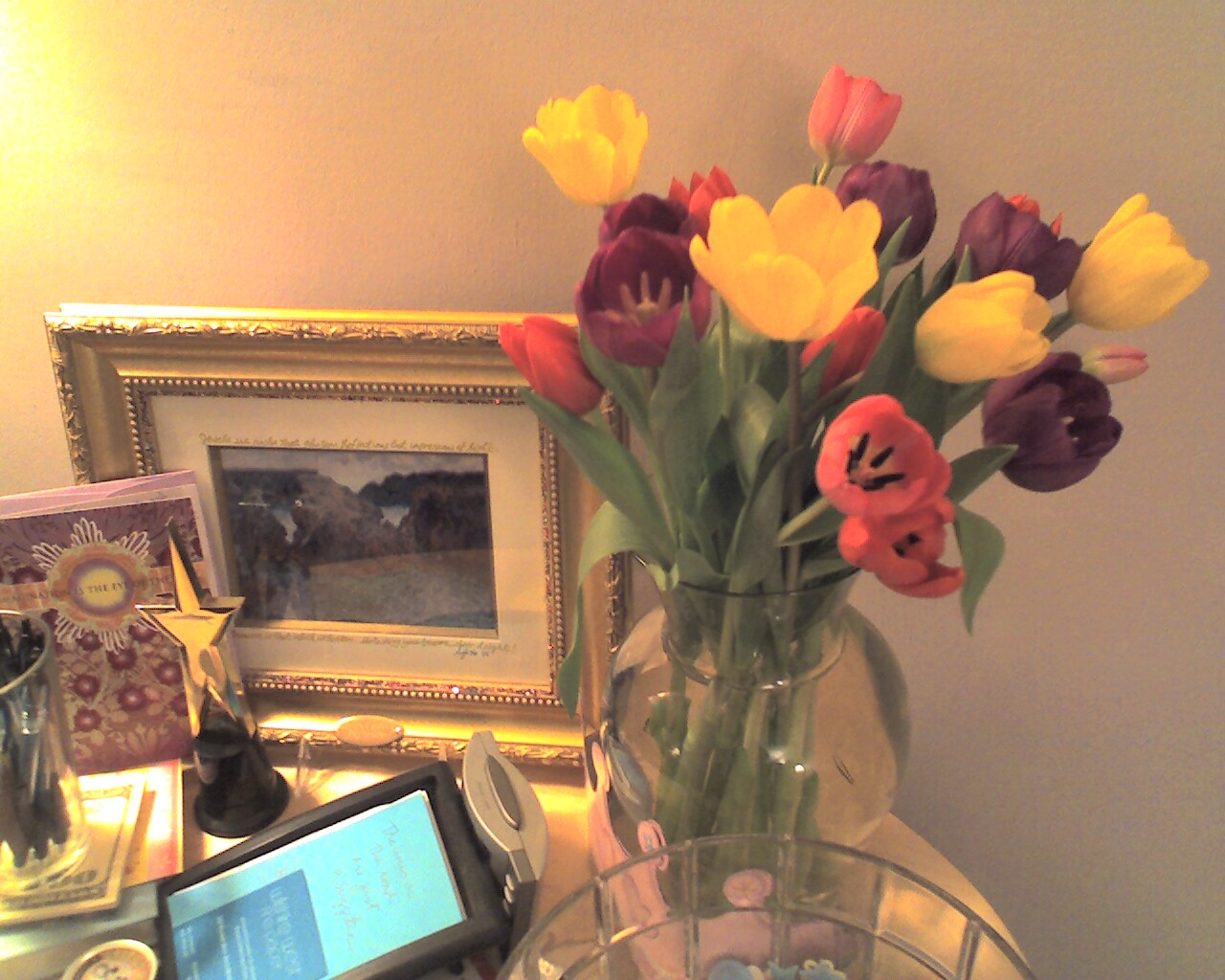 In my Santa Monica office this is the side table next to me when I do coaching and psychotherapy. Photo: Lynne Azpeitia