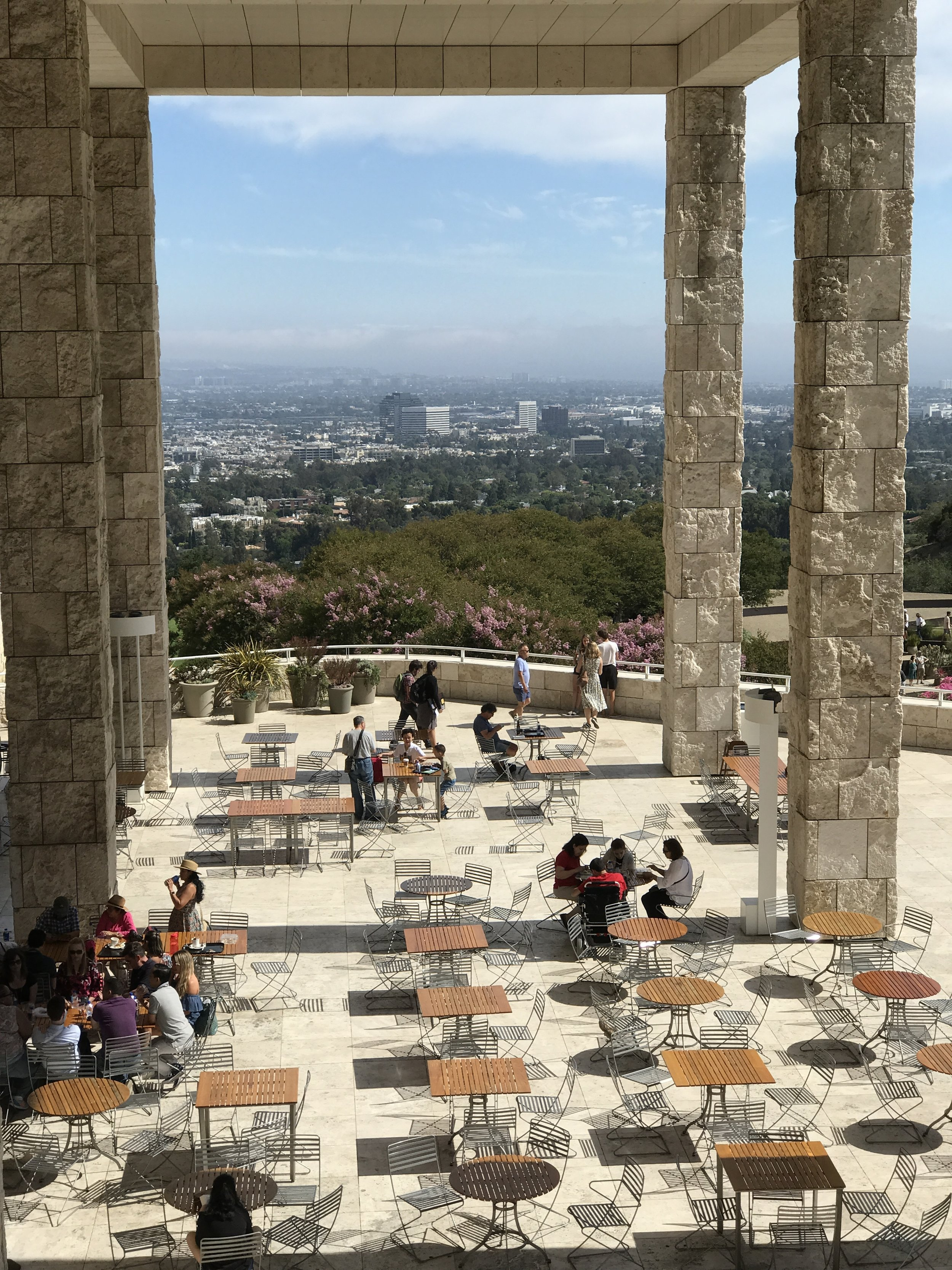 View from The Getty in July                             Photo: Lynne Azpeitia