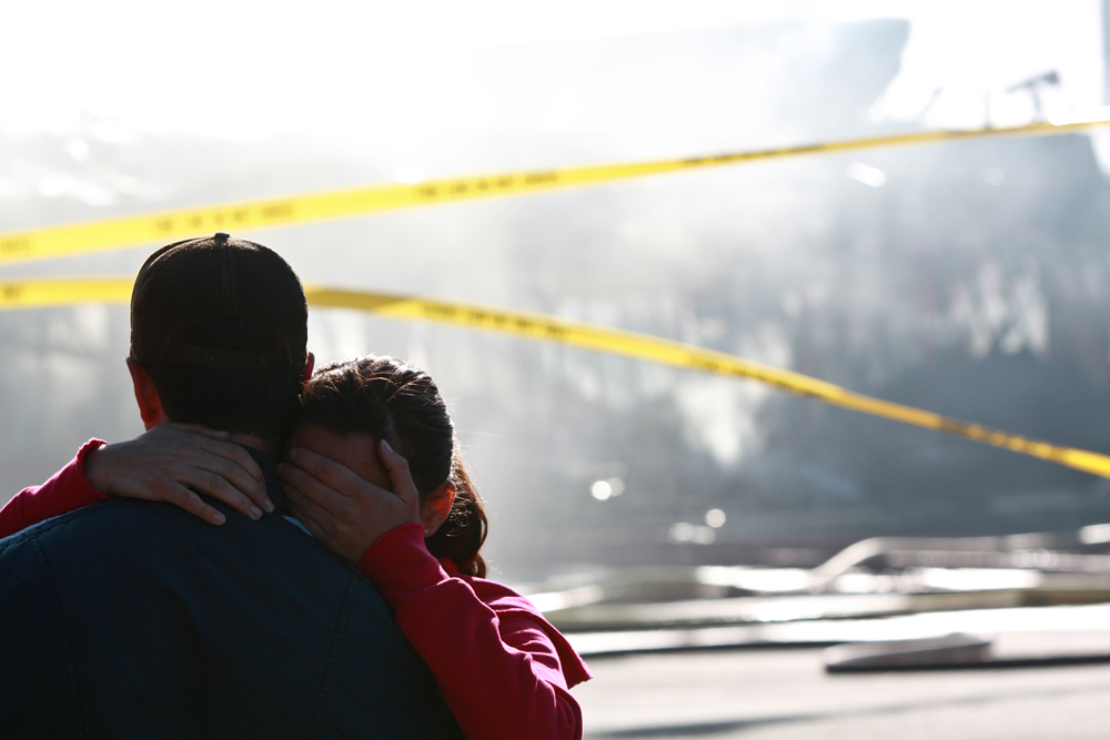 Investors are overcome with grief after a massive fire engulfs all of the businesses located at 140 University Avenue West in Waterloo.