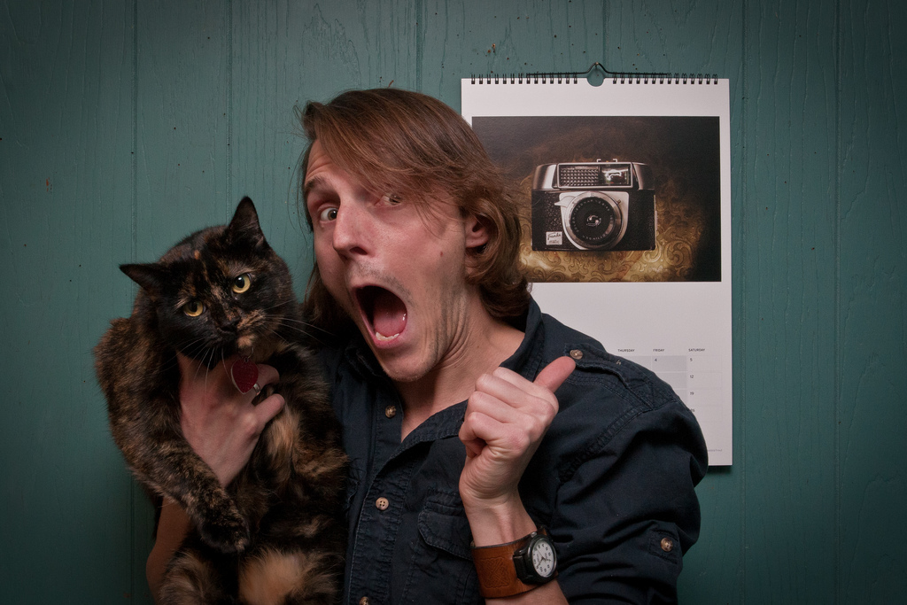 Disclaimer: Photographer may have shorter hair now. Cat may not be present at your shoot.