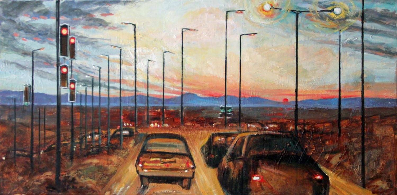Motorway & Sunset