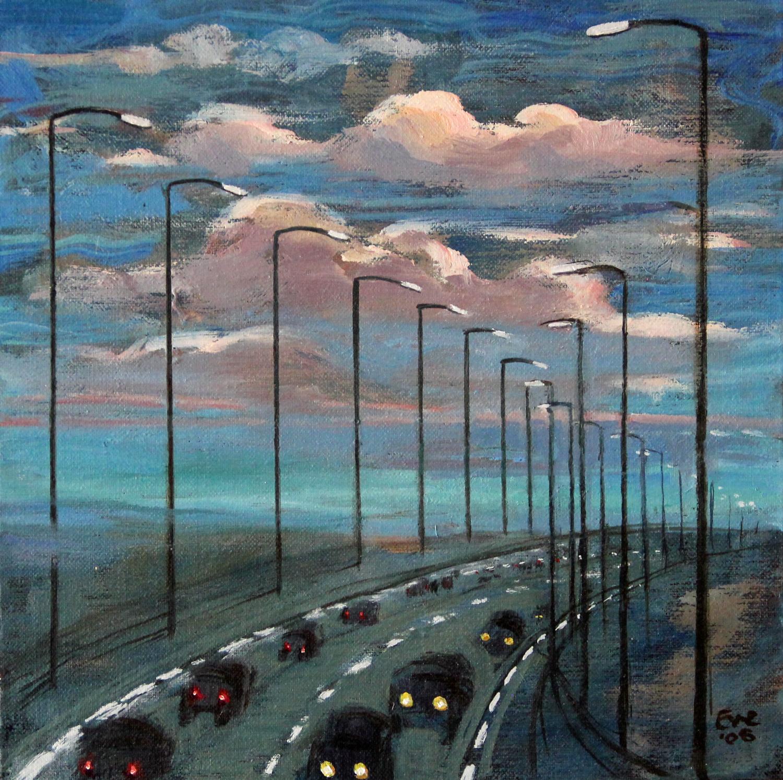 Motorway at sunset