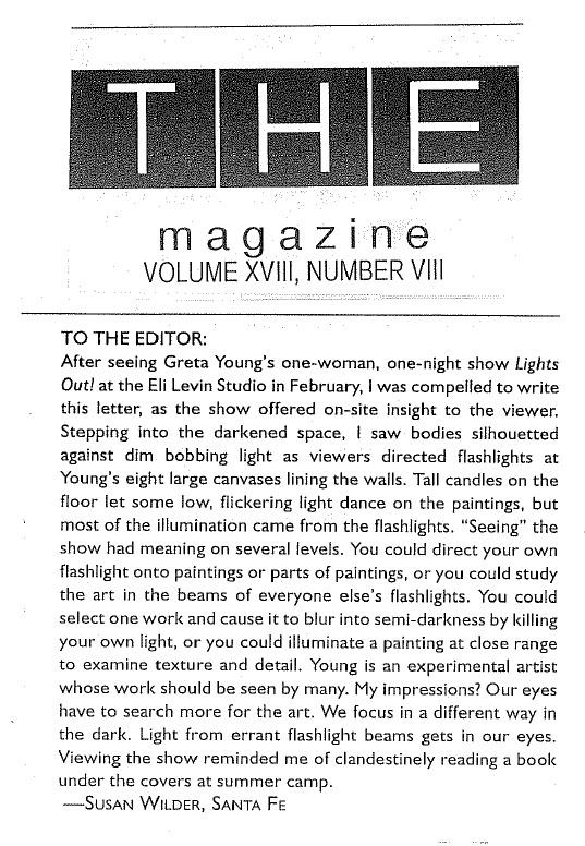 THE magazine, Santa Fe, NM