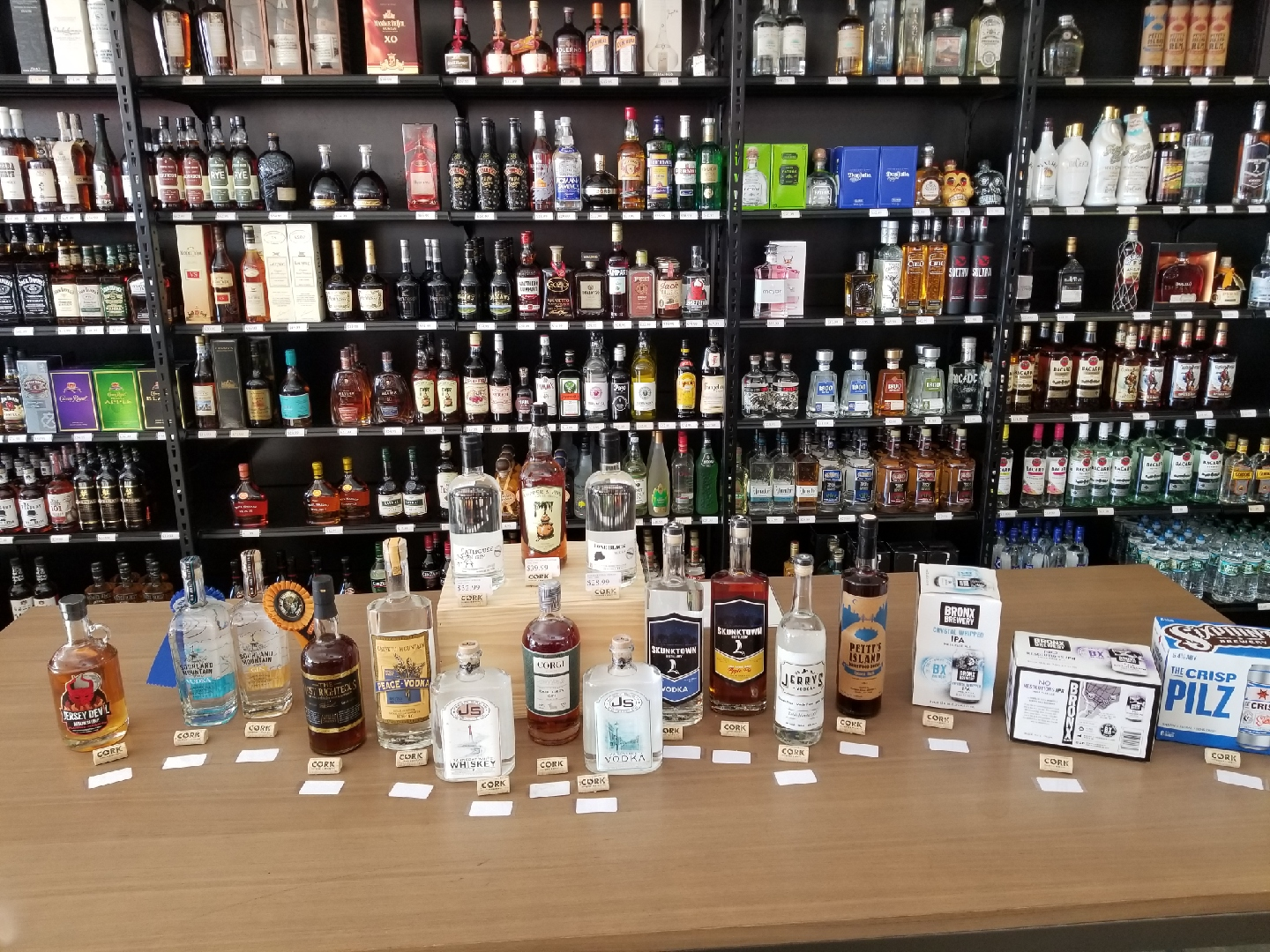 Locally brewed & distilled products featured this weekend!