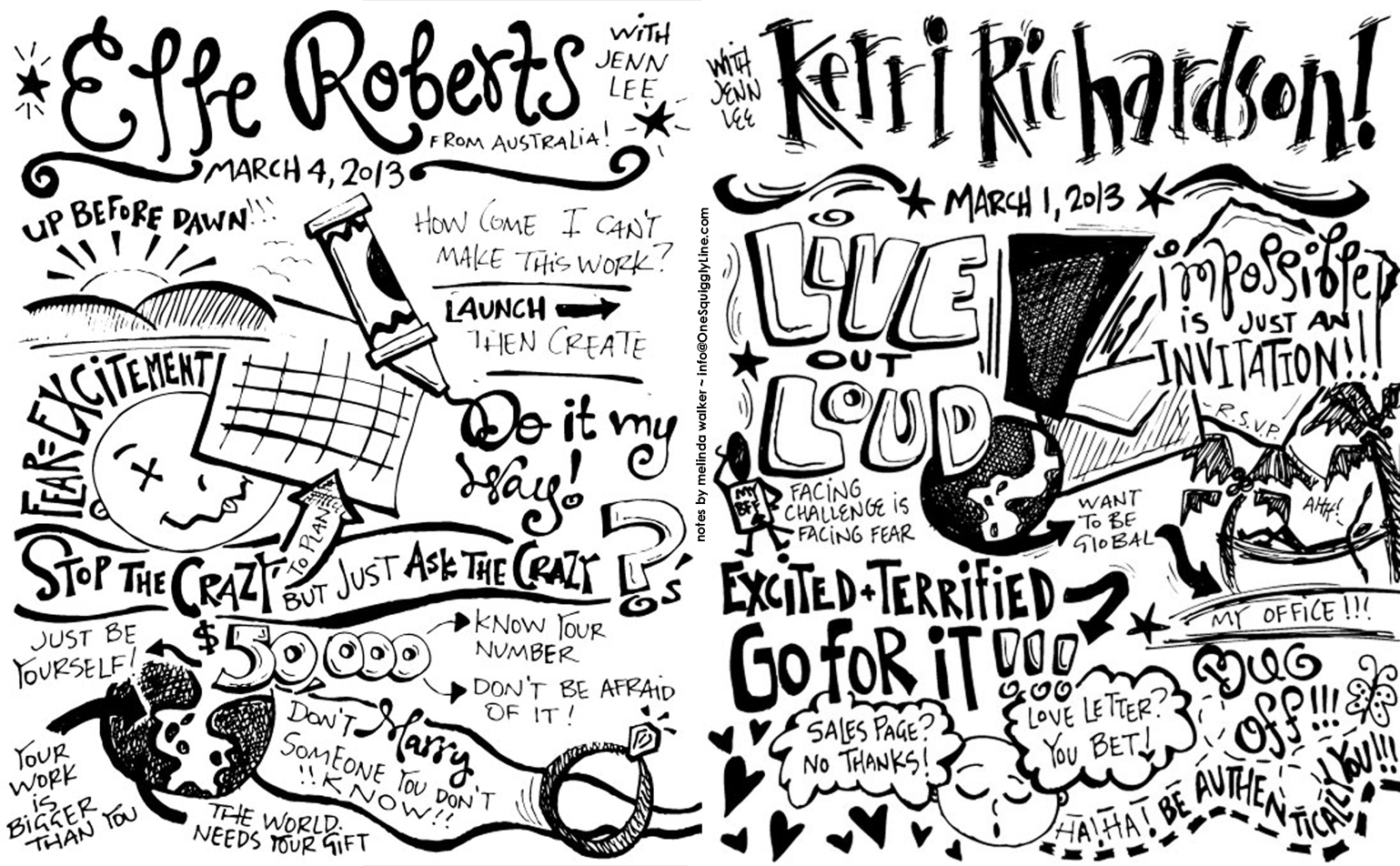 Sketchnotes: Interviews with Elle Roberts & Kerri Richardson