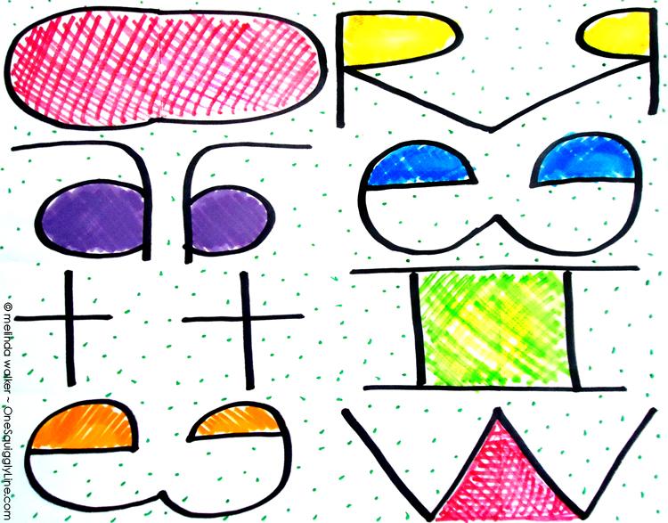 Viaul Thinking Exercise - One Squiggly Line - Melinda Walker