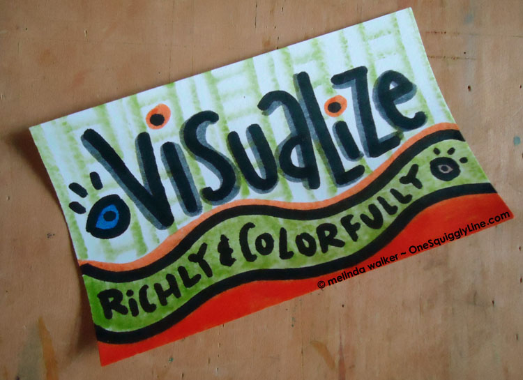 Visualize Richly & Colorfully Dying Markers Melinda Walker OneSquigglyLine