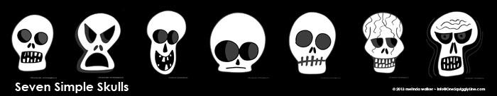 Seven Simple Skulls Melinda Walker One Squiggly Line