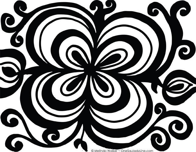 FlowerDoodle_ThickThinConcentricLines_MelindaWalker_OneSquigglyLine_BlackAndWhite.jpg