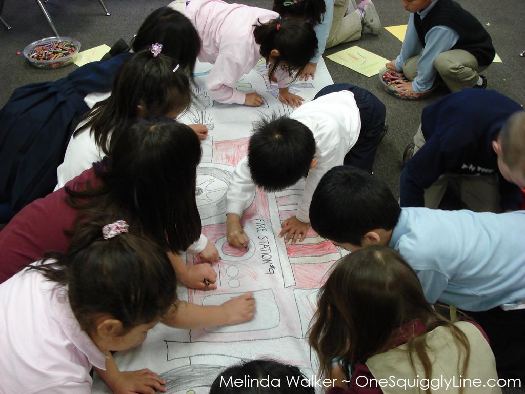 LargeScaleDrawing_VisualThinking_Kindergarten_MelindaWalker_OneSquigglyLine