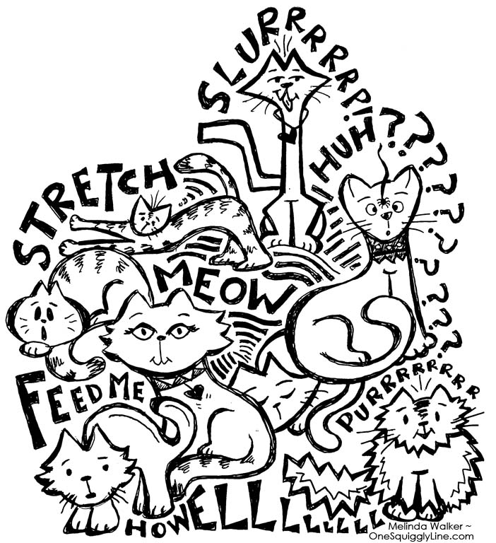 Creativity_Cats_Doodle_Drawing_MelindaWalker_OneSquigglyLine