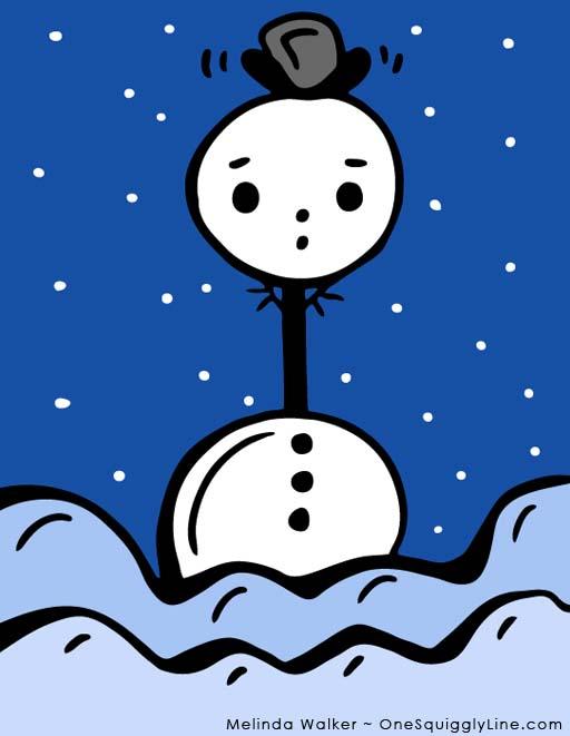 VisualThinking_Creativity_Drawing_Snowman_UseDifferently_MelindaWalker_OneSquigglyLine