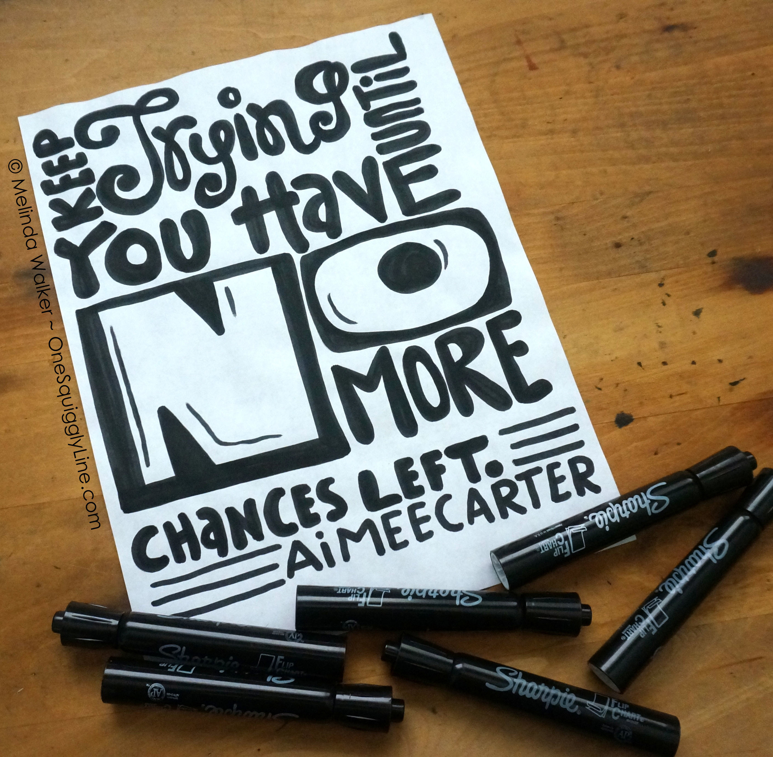 Keep Trying Till You Have No Chances Left - Aimee Carter Quote