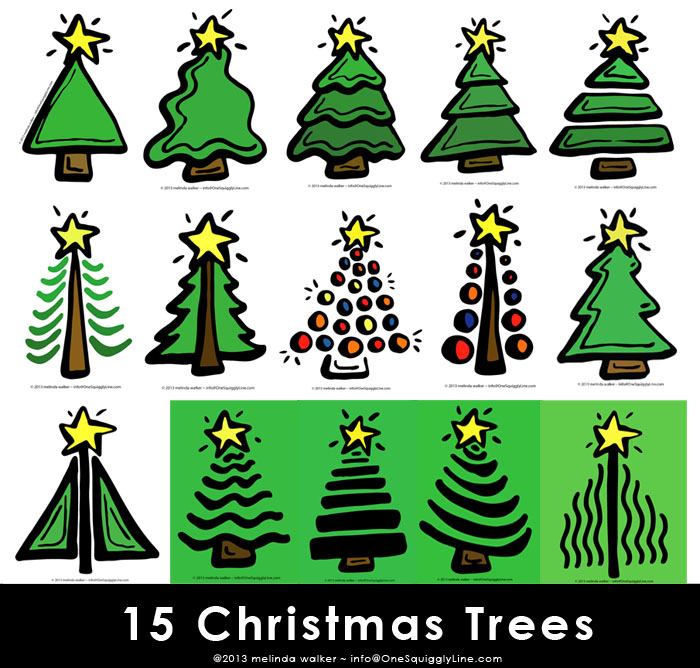 15 Christmas Trees: Visual Creativity