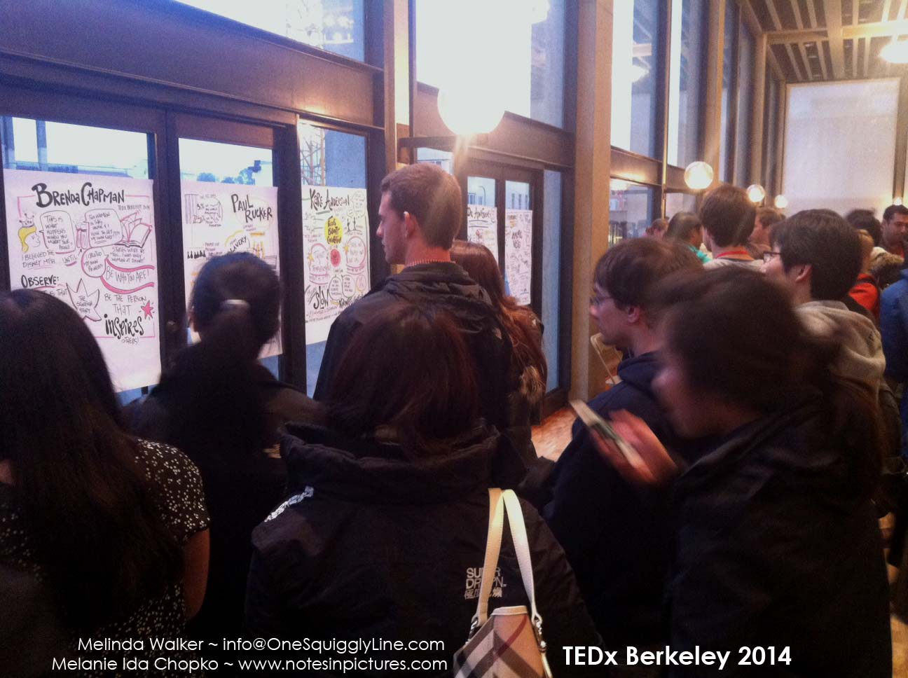 TEDxBerkeley: Crowd Around Graphic Finished Graphic Recordings