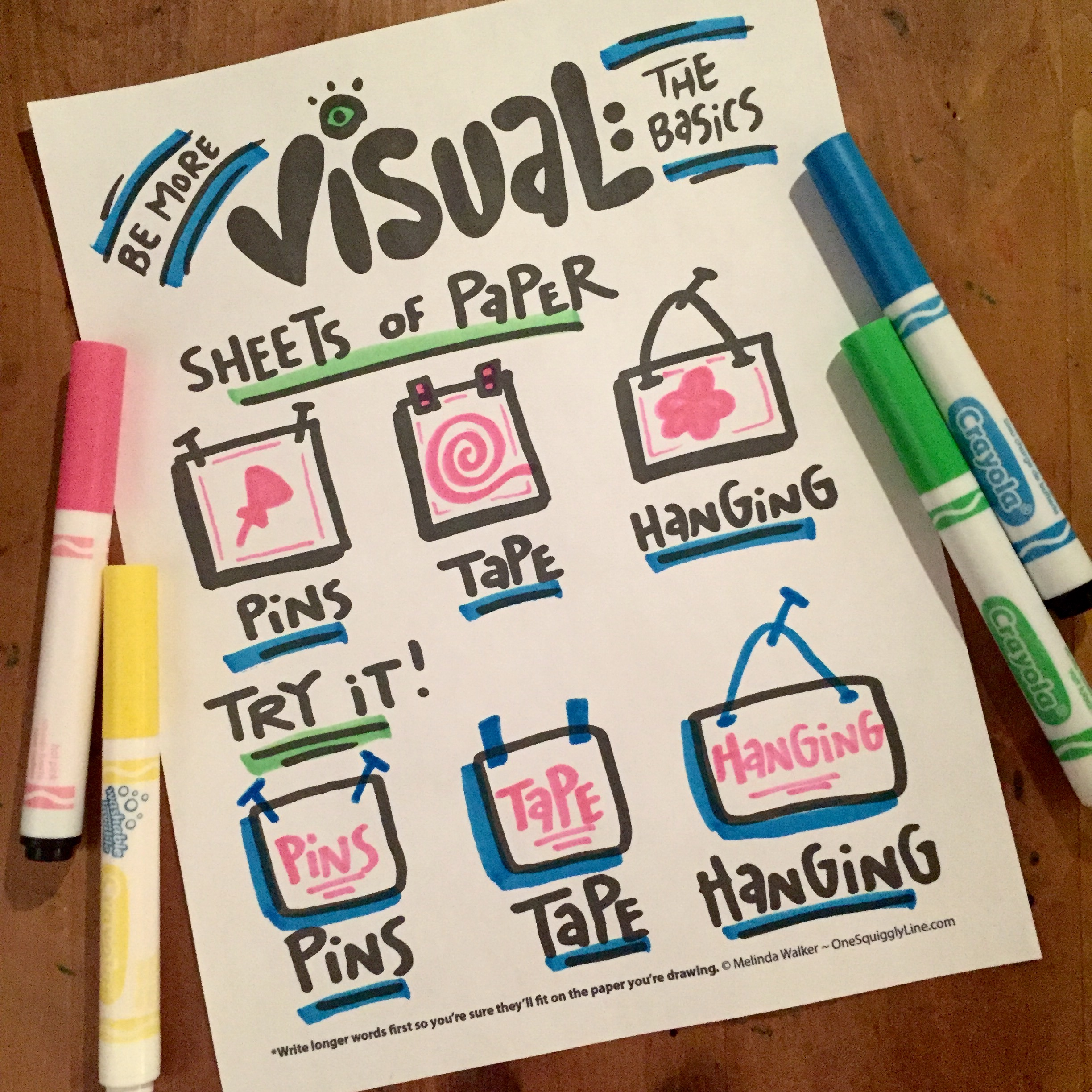 Be More Visual: Sheets of Paper