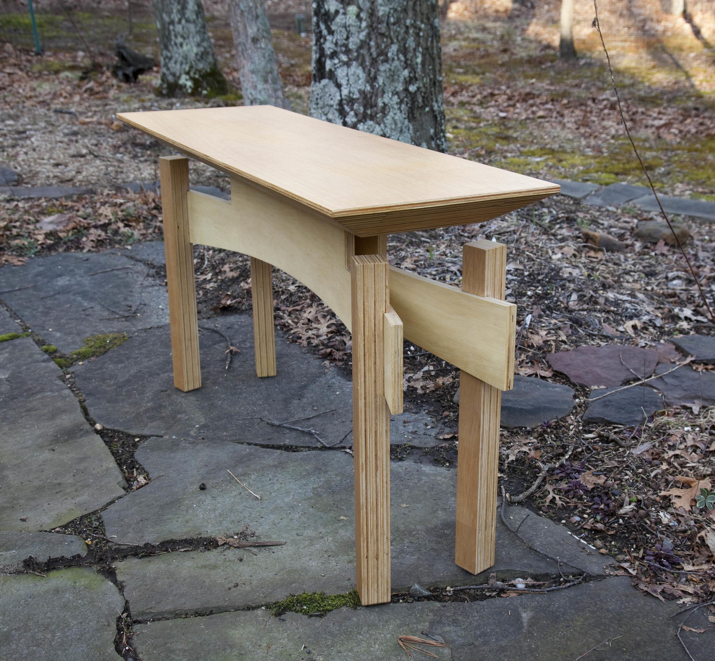 Plywood sideboard table by valebruck.com