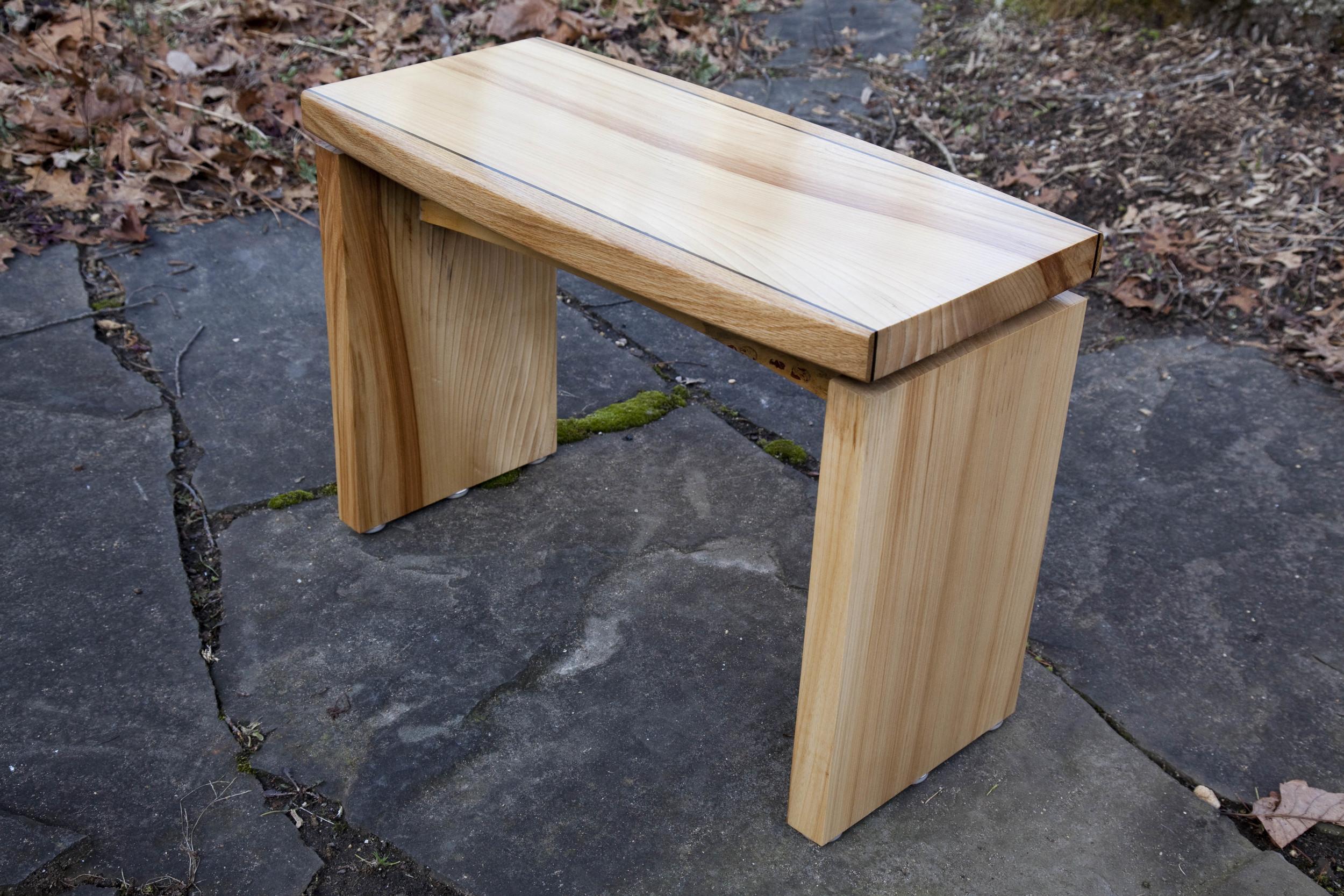 Elm, oak & maple coffee table by valebruck.com