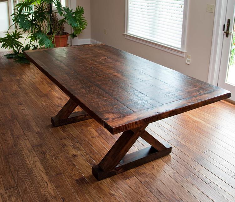 Rough-Sawn Barnwood Kitchen Table — Vale Lorin Bruck Design