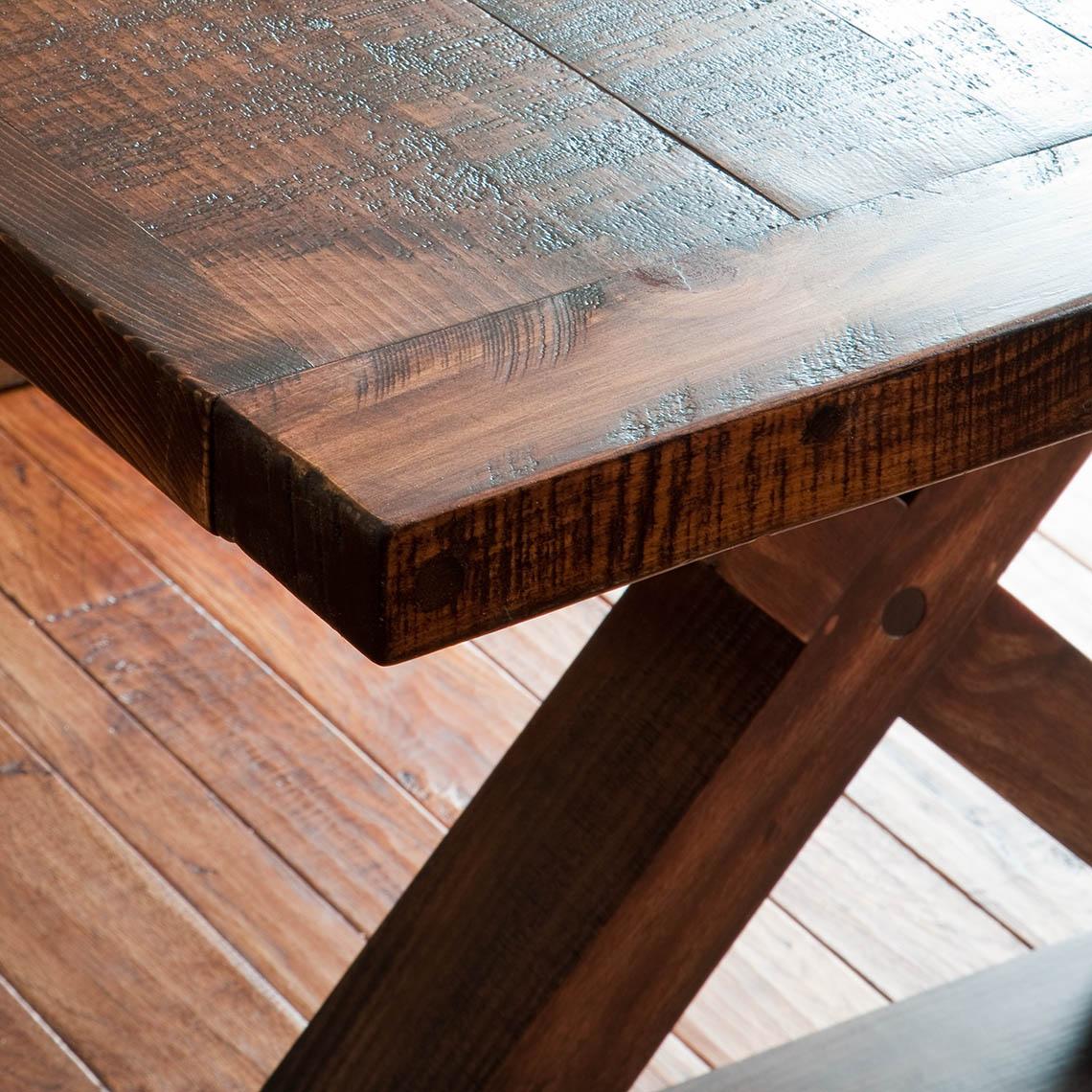 Rough Sawn Barnwood Kitchen Table