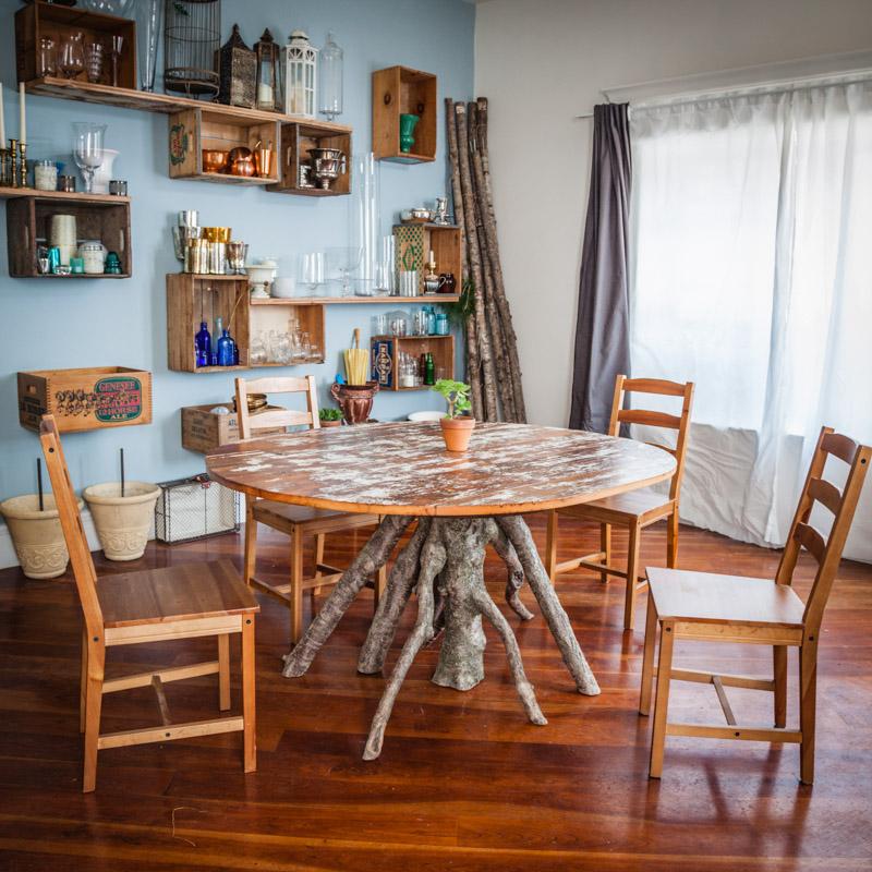 Table and Shelves - Leaves of Grass Floral Design Studio - Fishtown, Philladelphia.