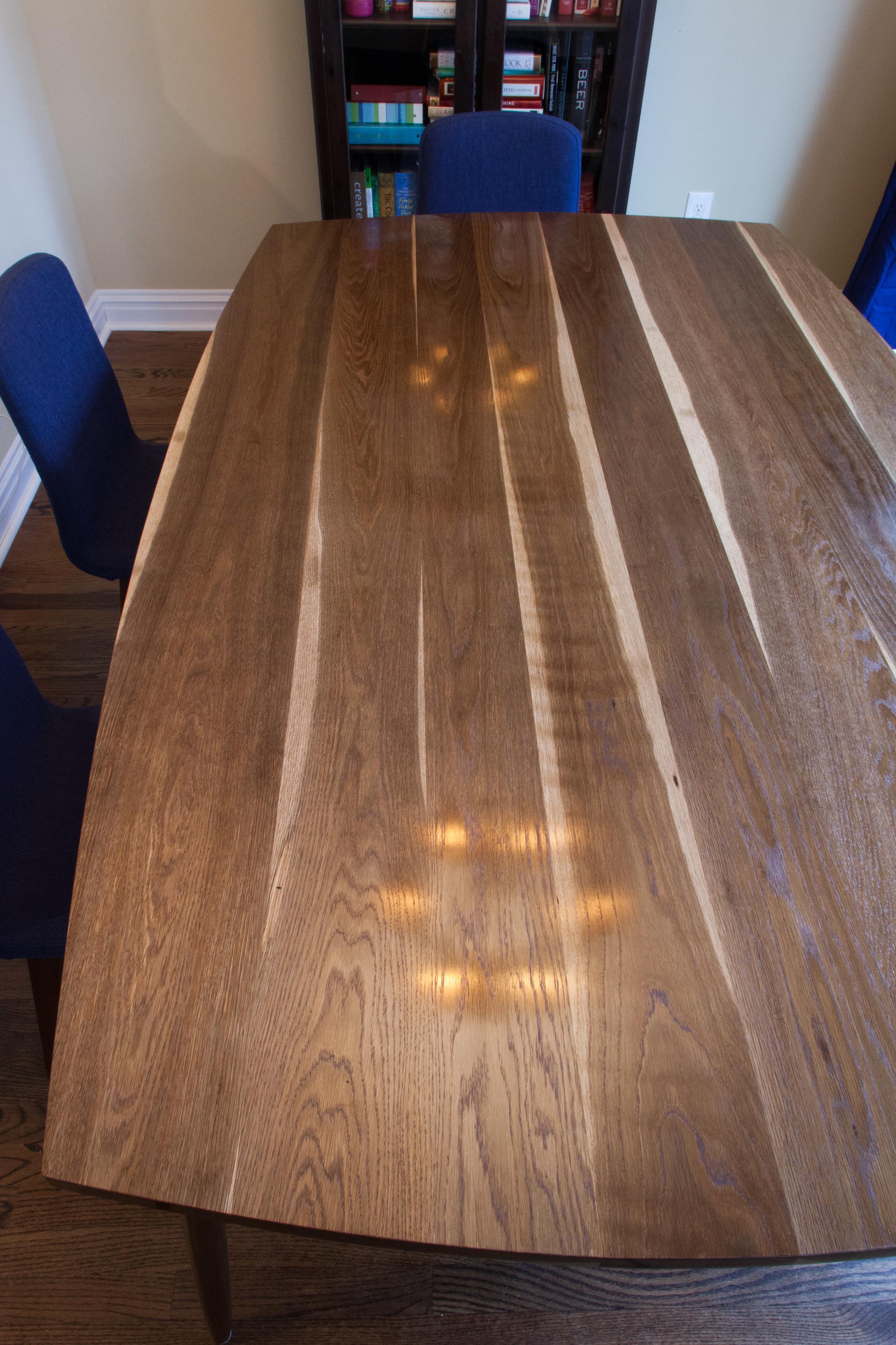 Mid-century modern white oak table by valebruck.com